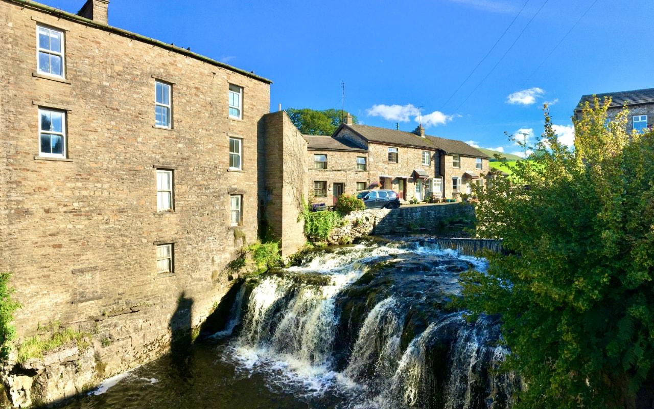Waterfall in Hawes, Wensleydale in The Yorkshire Dales
