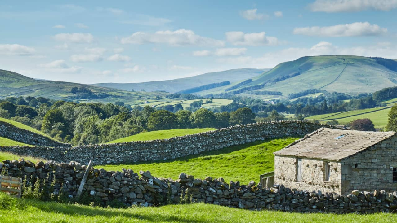rolling hills in The Yorkshire Dales