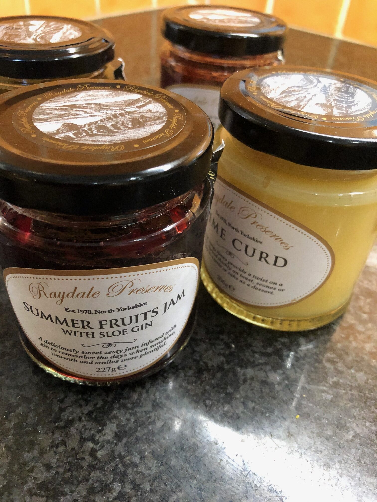 Raydale Preserves served at The House at Hawes 5 star B&B in The Yorkshire Dales